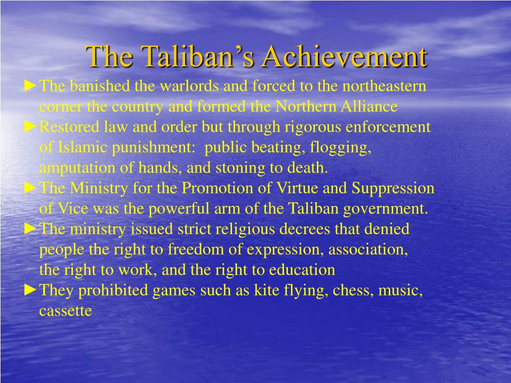 The Taliban's Achievement
