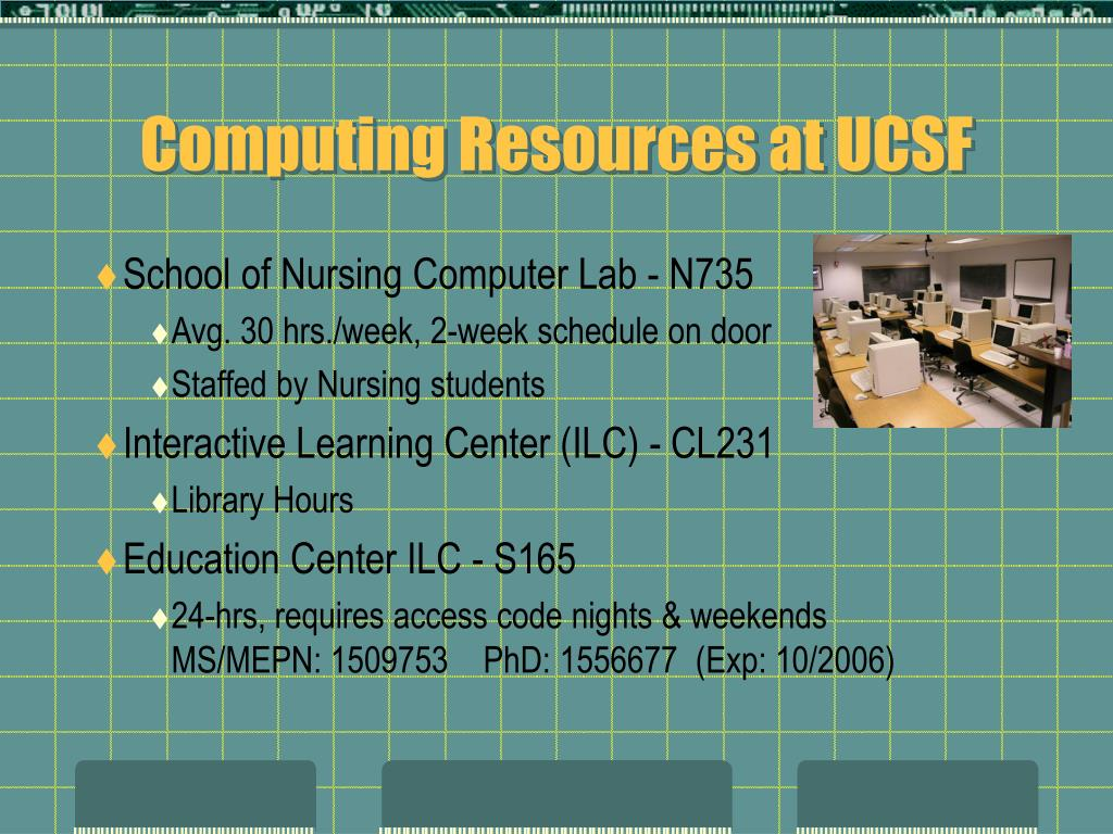 Computing Resources at UCSF