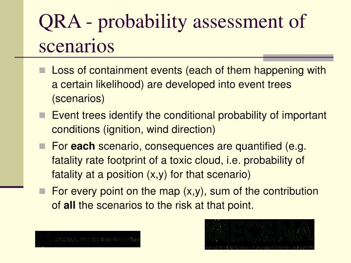 QRA - probability assessment of scenarios