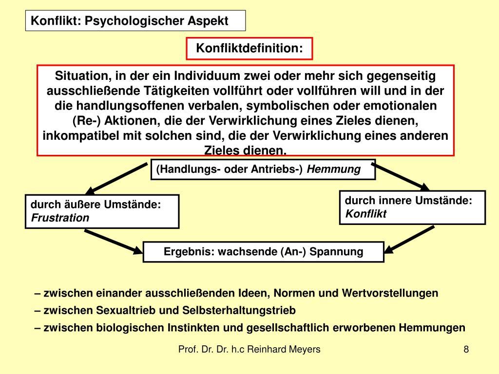 Konflikt: Psychologischer Aspekt