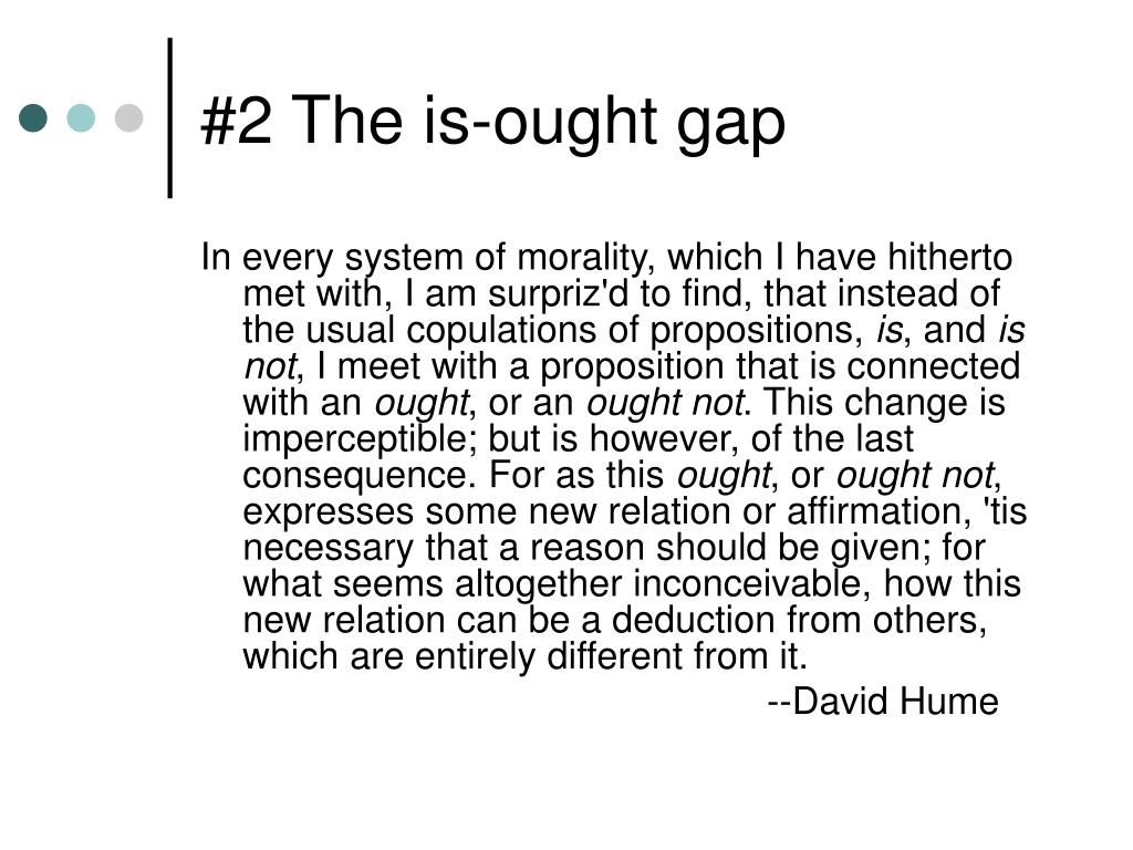#2 The is-ought gap