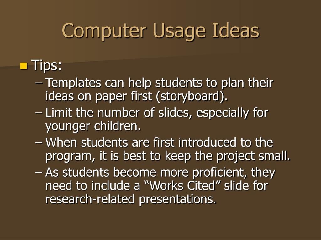 Computer Usage Ideas