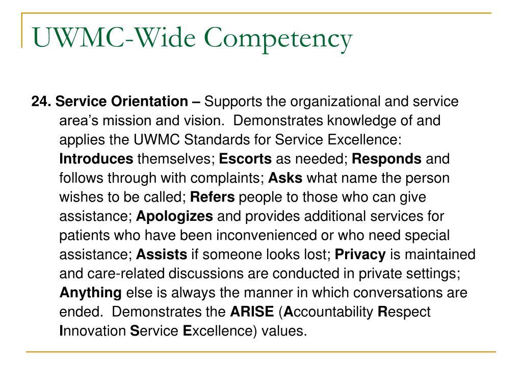 UWMC-Wide Competency