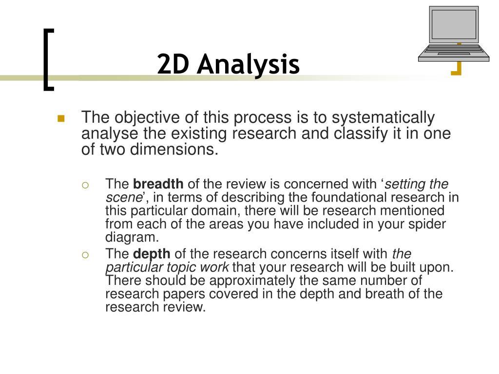 2D Analysis