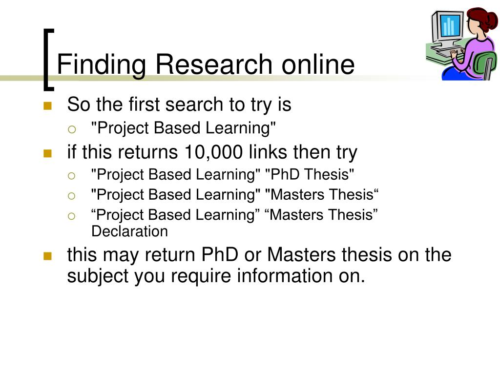 Finding Research online