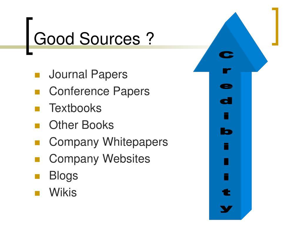 Good Sources ?