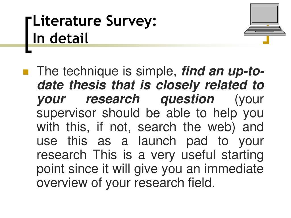Literature Survey: