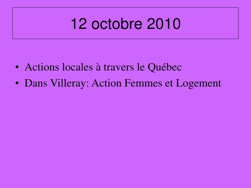 12 octobre 2010