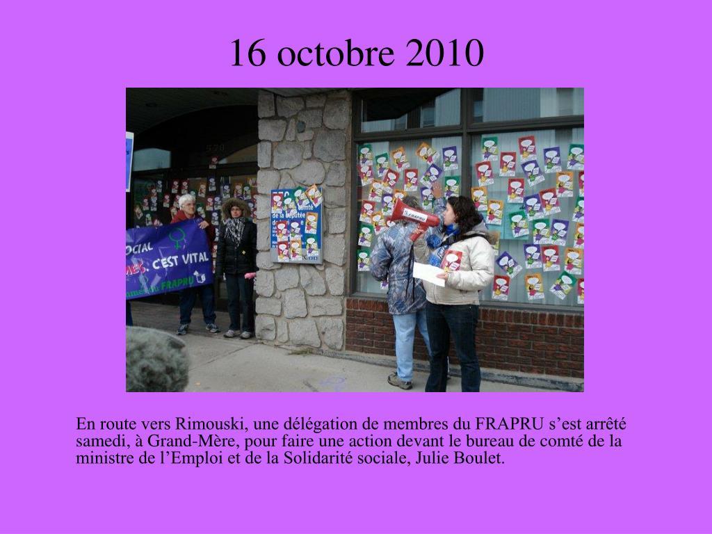 16 octobre 2010