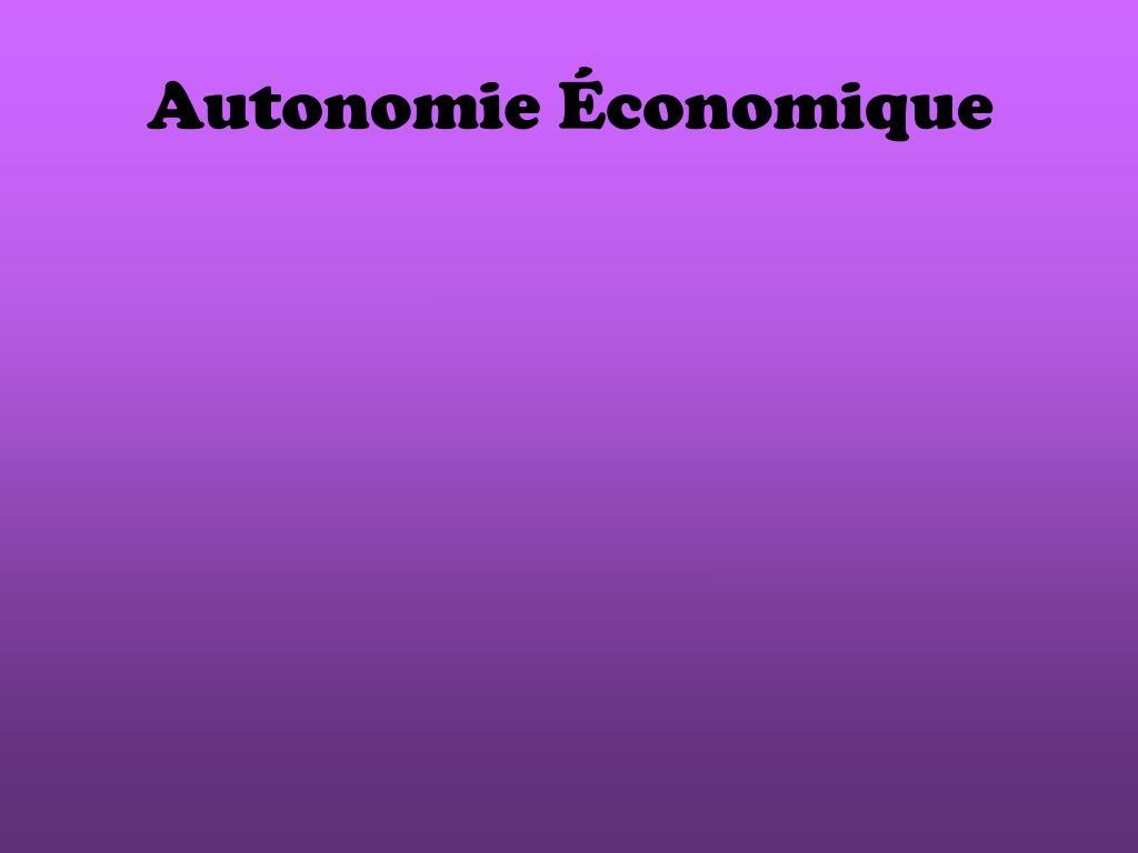 Autonomie Économique