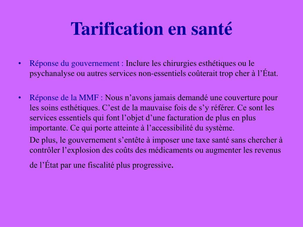 Tarification en santé