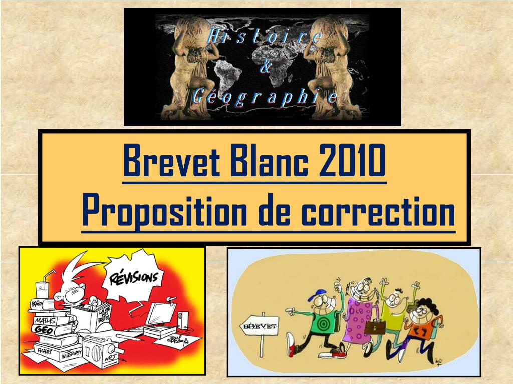 Proposition de correction