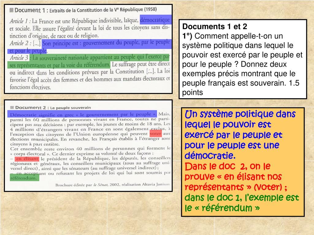 Documents 1 et 2
