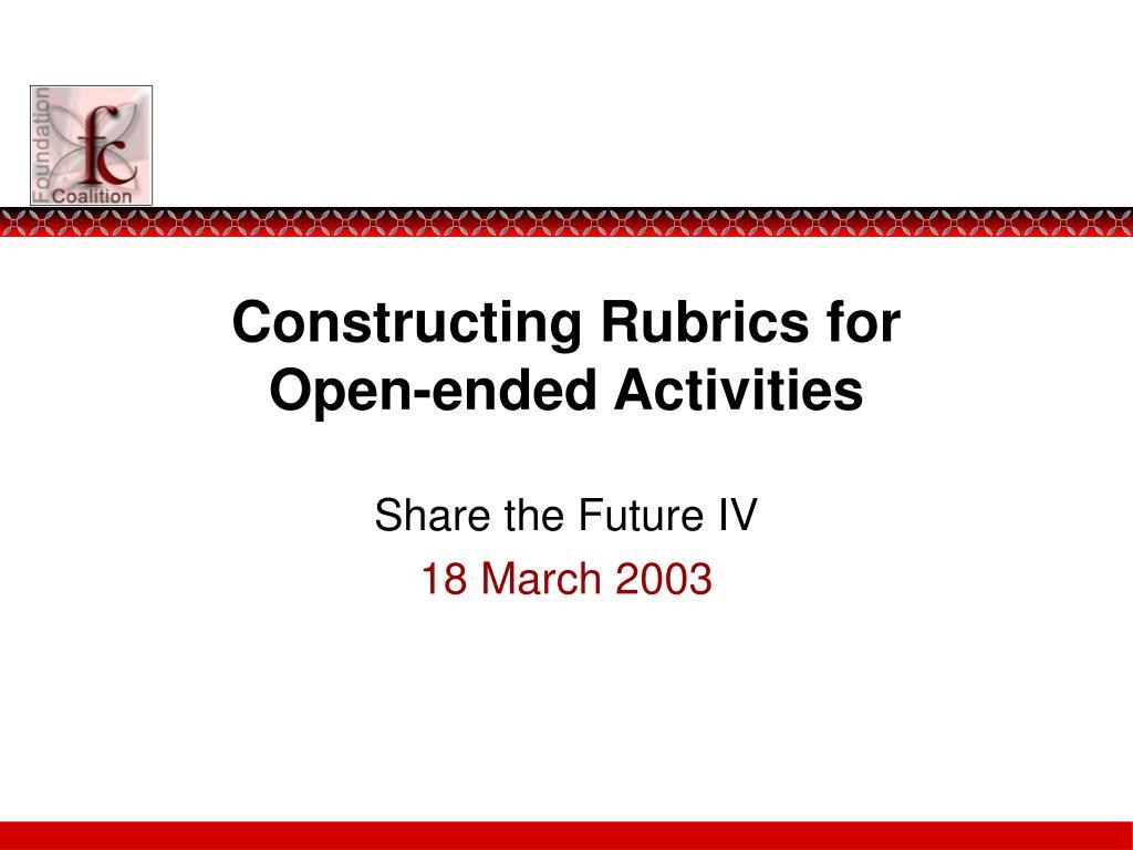 Constructing Rubrics for