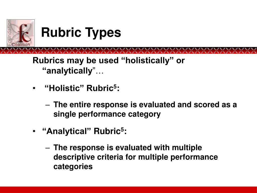 Rubric Types