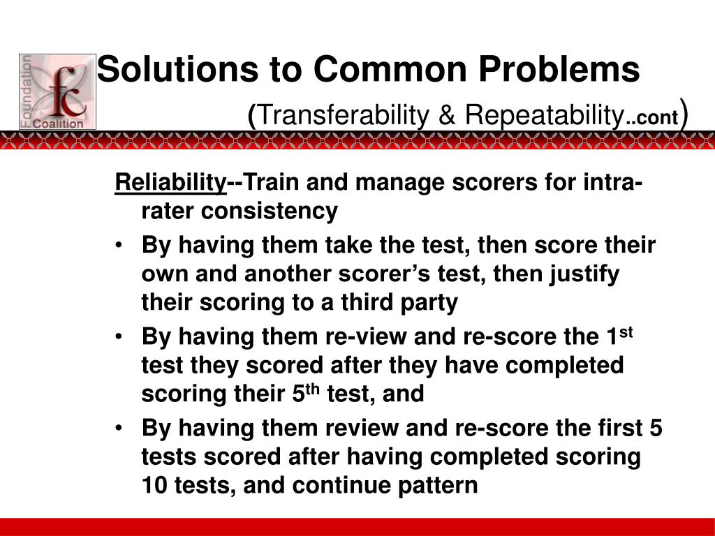 Solutions to Common Problems