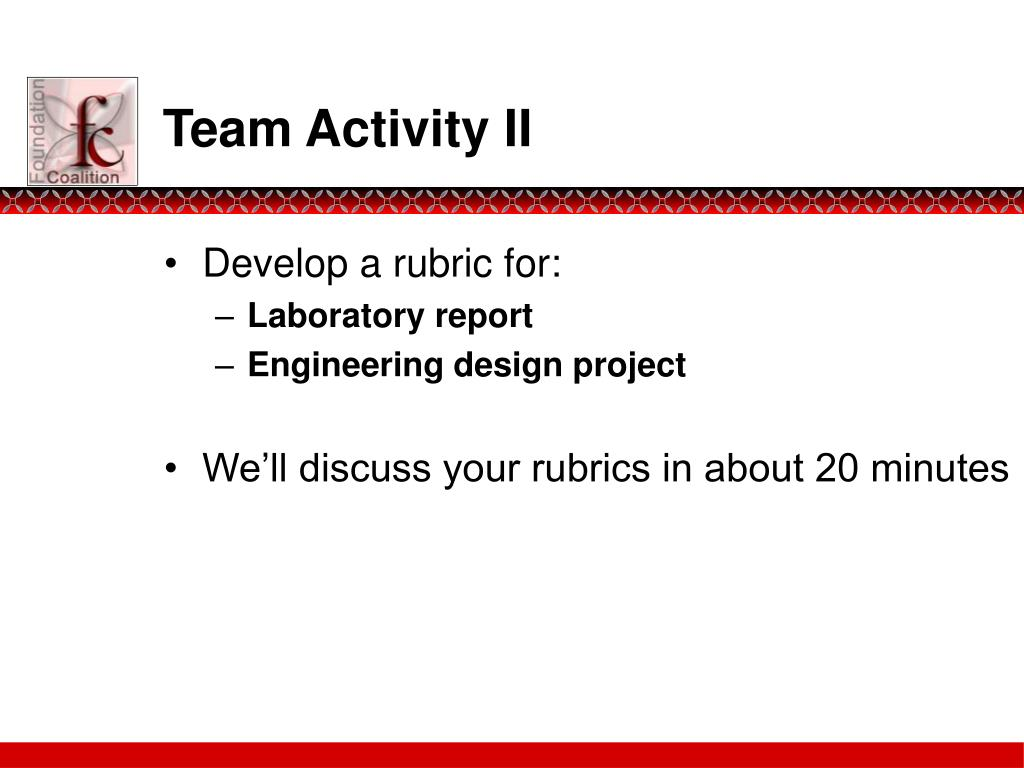 Team Activity II
