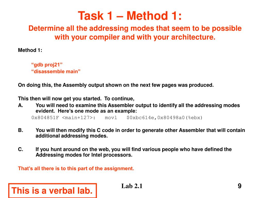 Task 1 – Method 1: