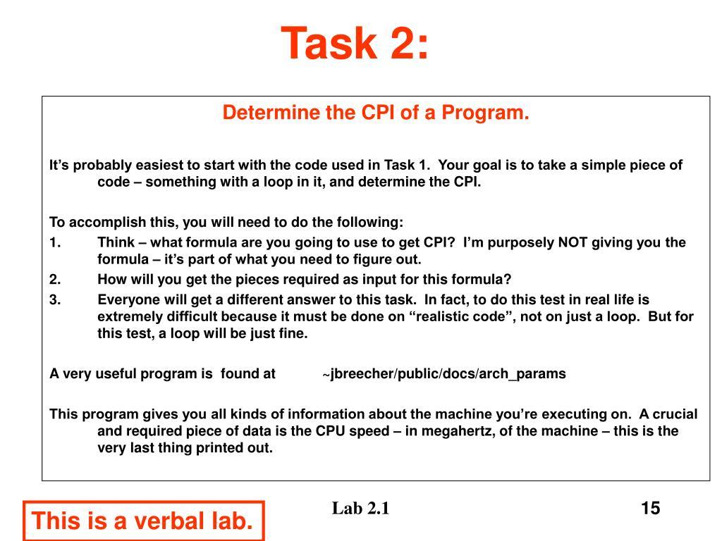 Task 2: