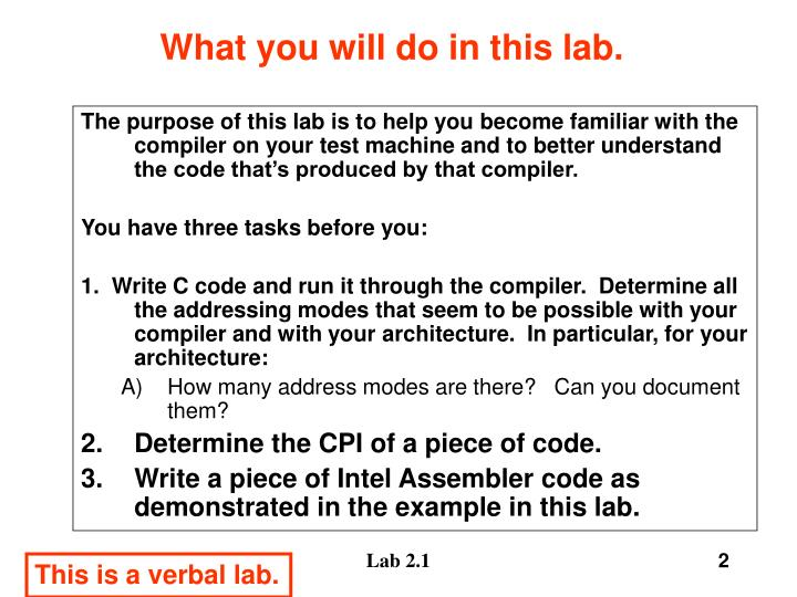 What you will do in this lab