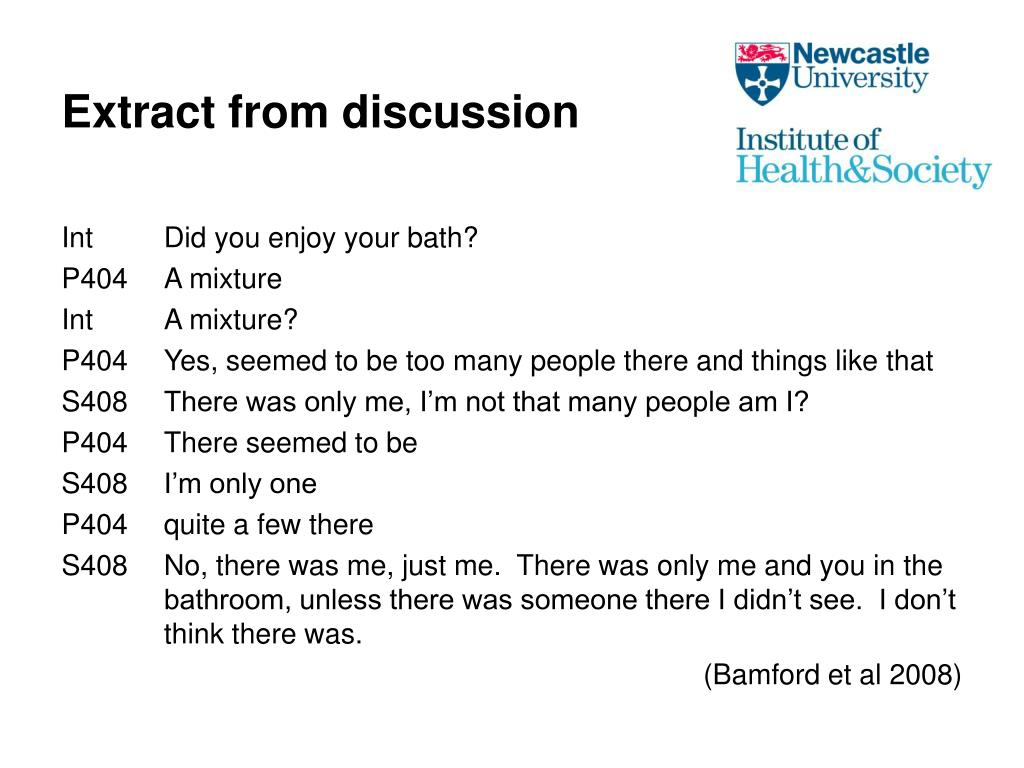 Extract from discussion
