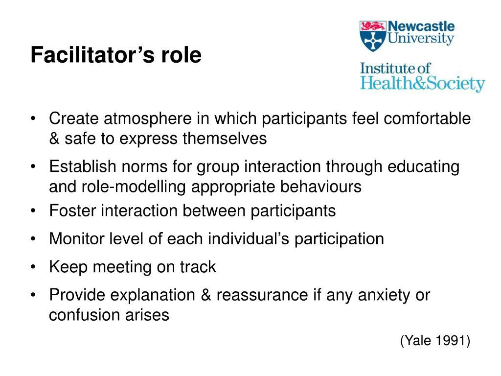 Facilitator's role
