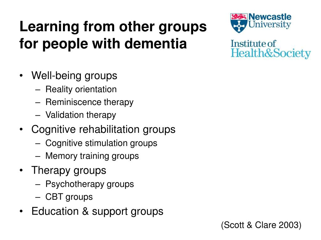 Learning from other groups for people with dementia