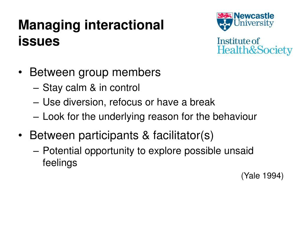 Managing interactional issues