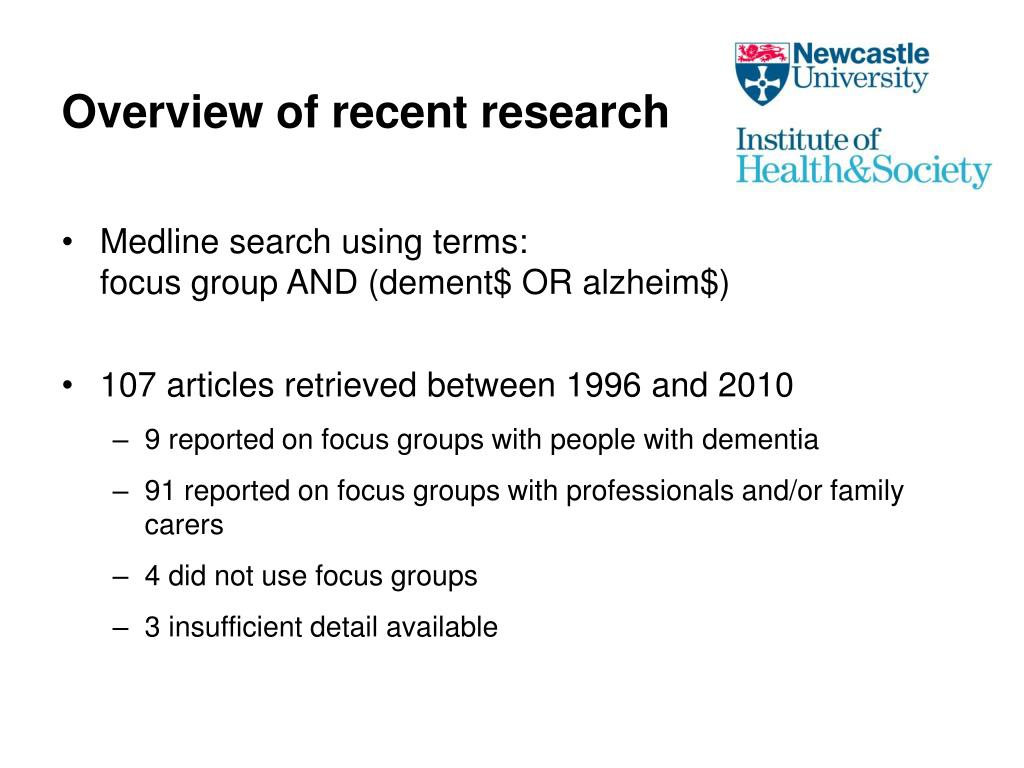 Overview of recent research