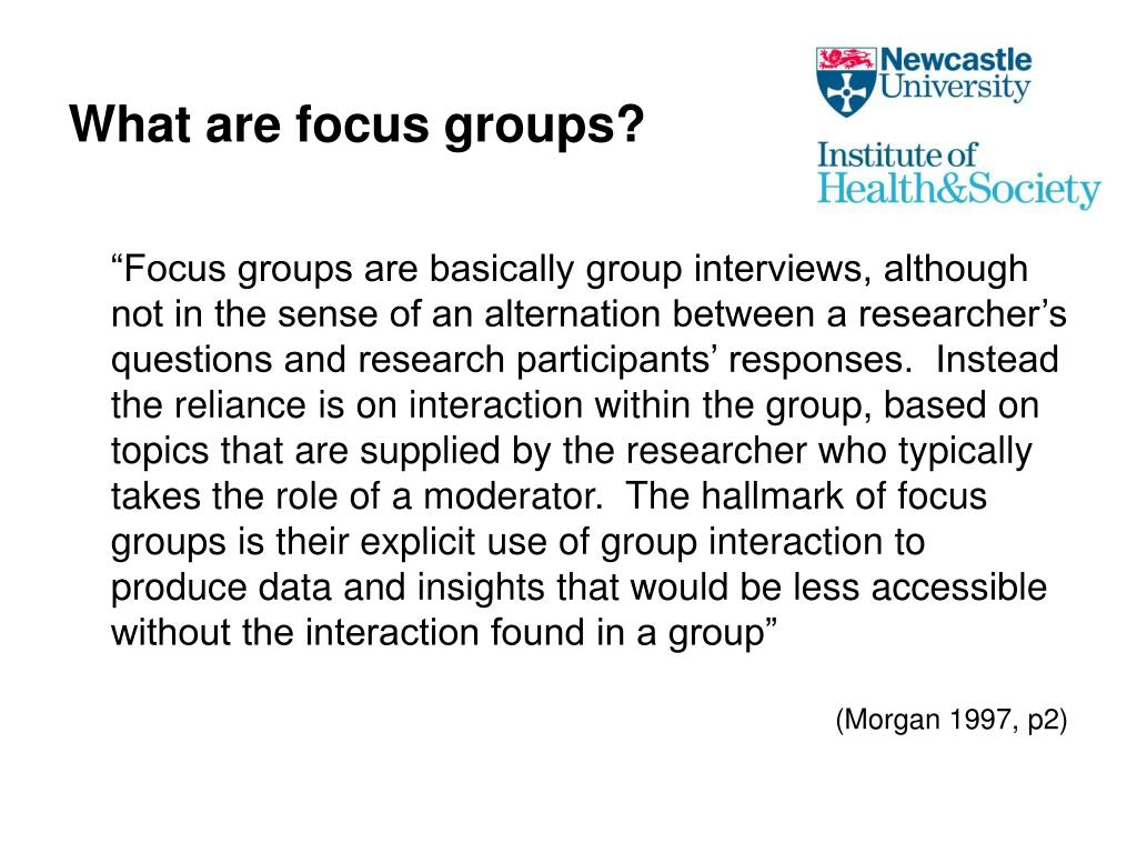 What are focus groups?
