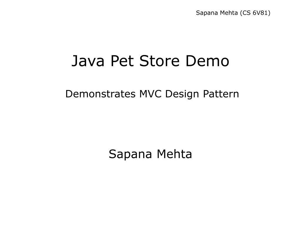 Sapana Mehta (CS 6V81)