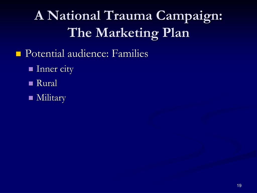 A National Trauma Campaign: