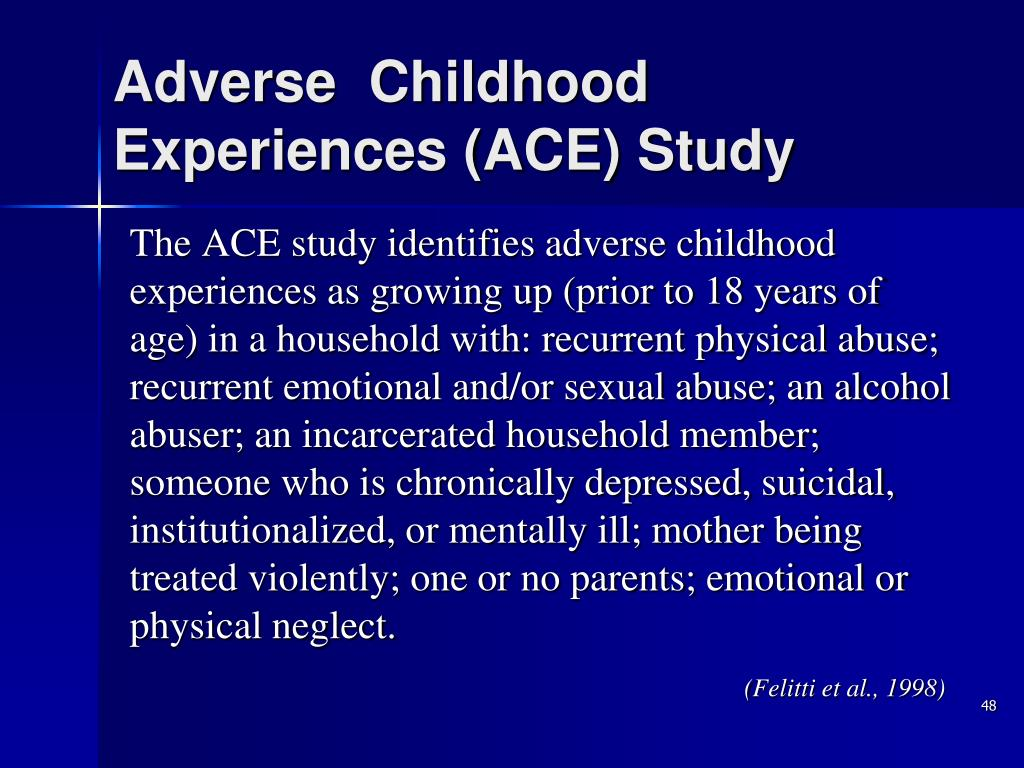 Adverse  Childhood Experiences (ACE) Study