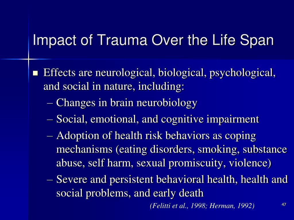 Impact of Trauma Over the Life Span