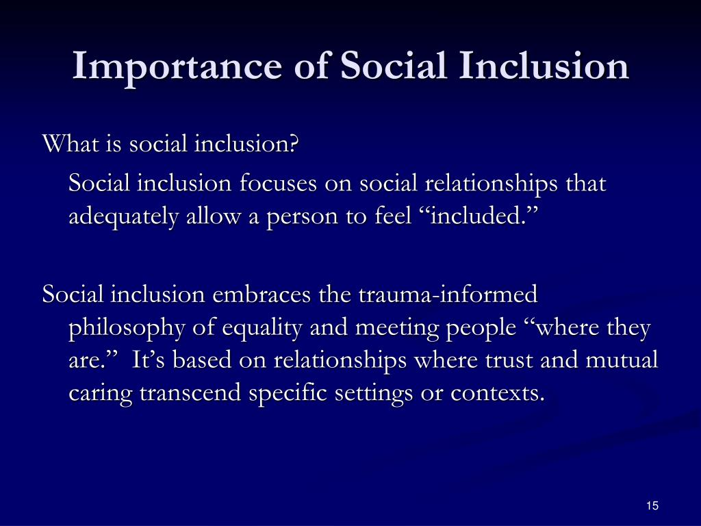 Importance of Social Inclusion
