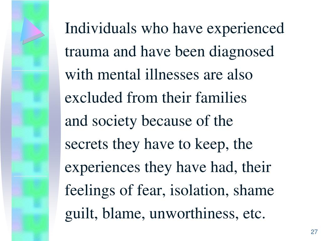Individuals who have experienced