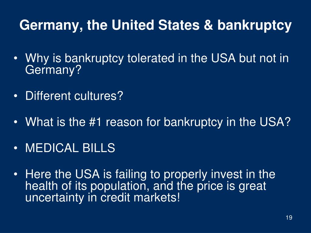 Germany, the United States & bankruptcy