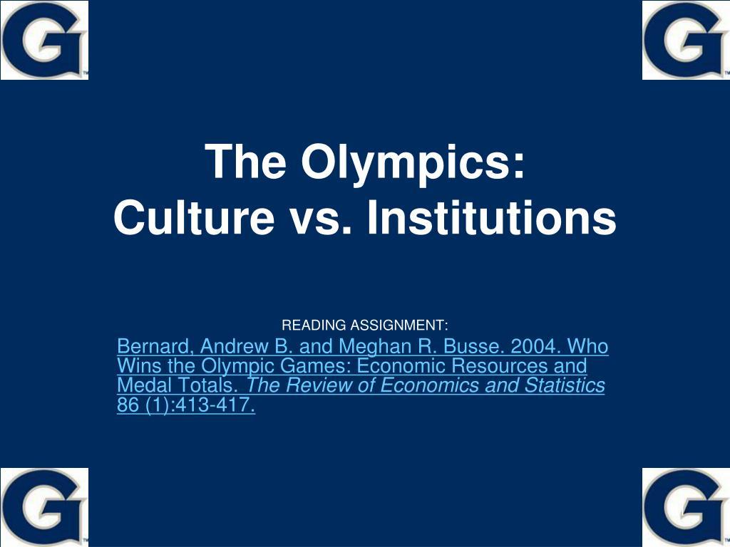 The Olympics: