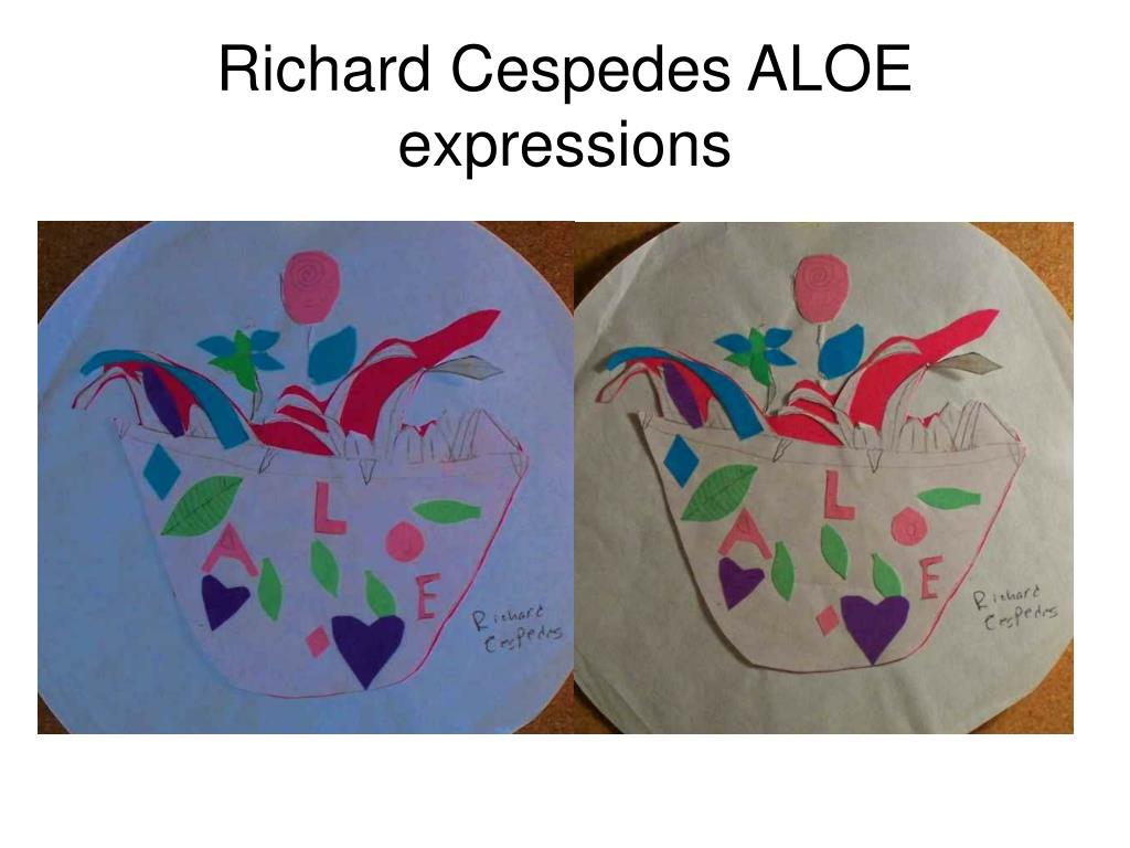 Richard Cespedes ALOE expressions