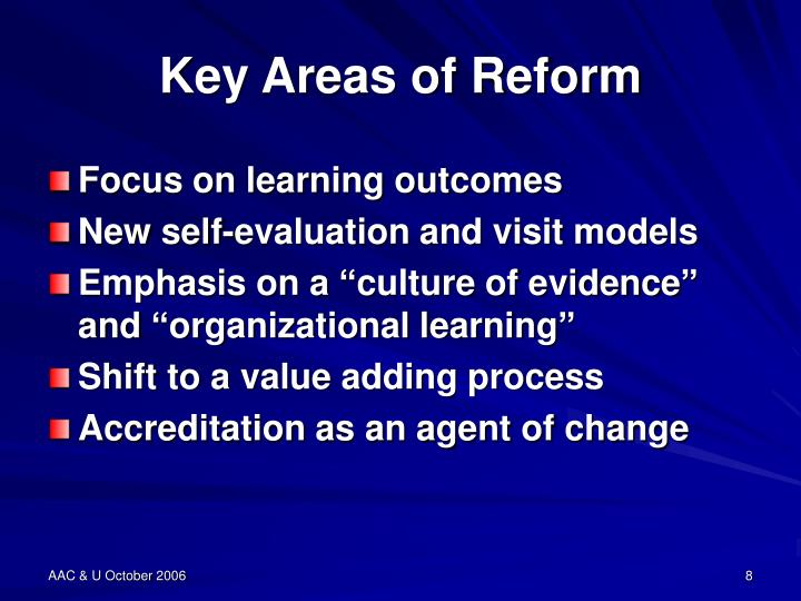 Key Areas of Reform