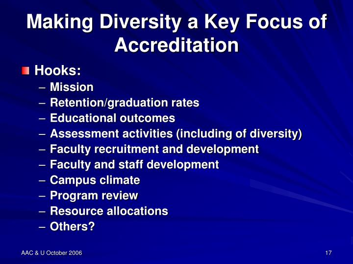 Making Diversity a Key Focus of Accreditation
