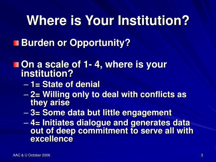 Where is your institution