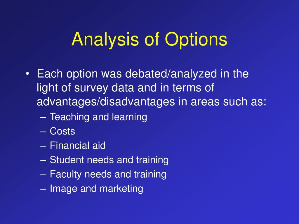 Analysis of Options