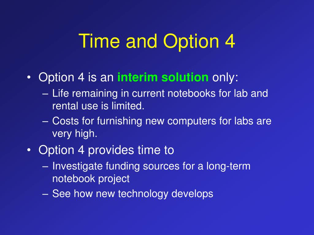 Time and Option 4