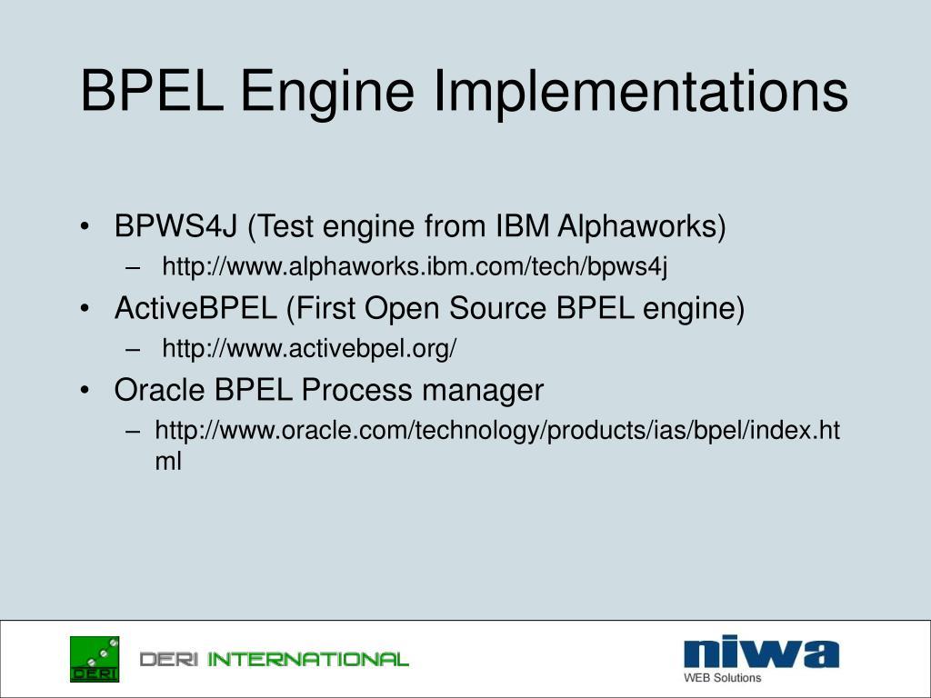BPEL Engine Implementations