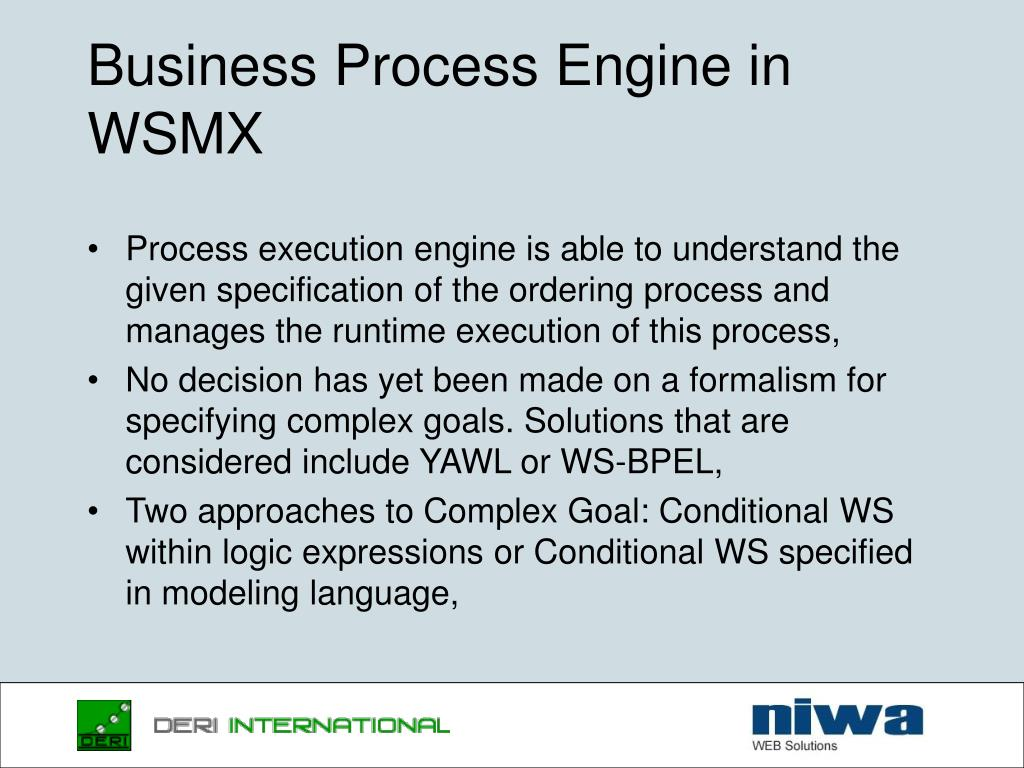 Business Process Engine in WSMX