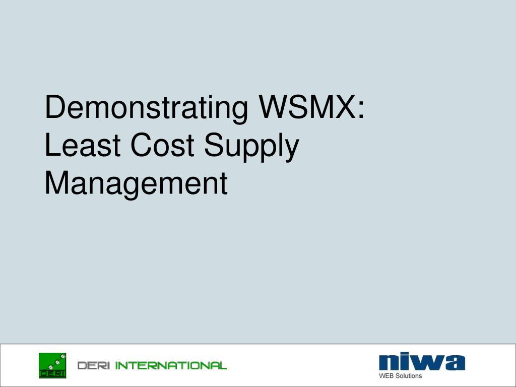 Demonstrating WSMX: