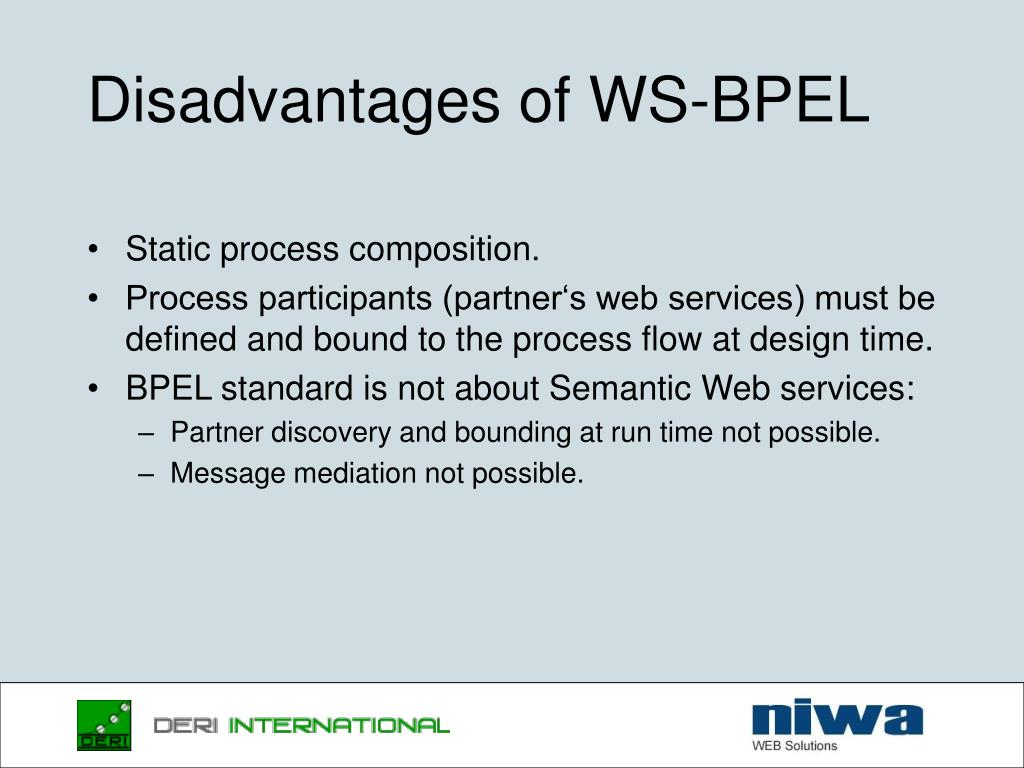 Disadvantages of WS-BPEL