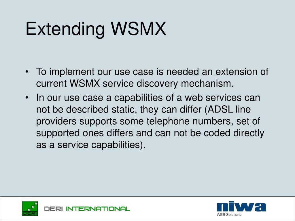 Extending WSMX