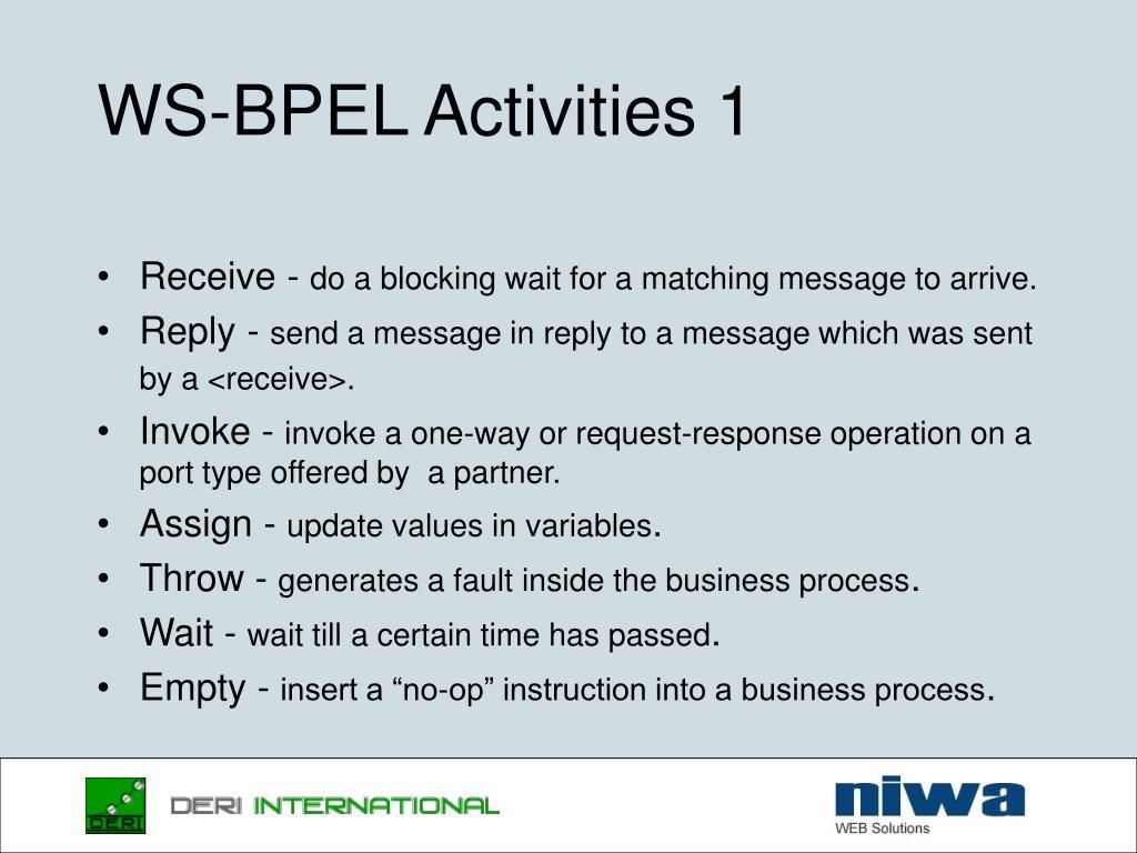 WS-BPEL Activities